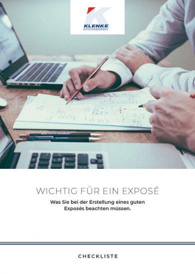 """Checkliste """"Wichtig für ein Exposé"""""""